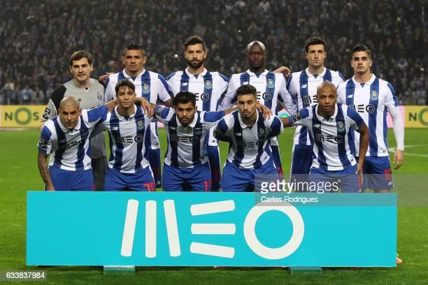 Porto initial team during the FC Porto v Sporting CP Primeira Liga match at Estadio do Dragao on February 04 2017 in Porto Portugal
