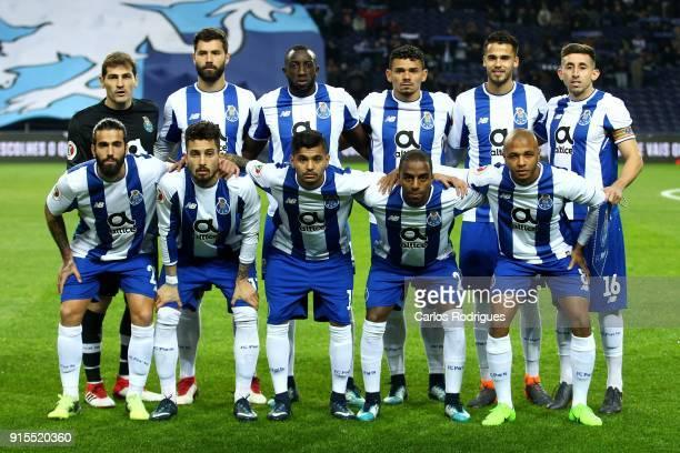 Porto initial team during the FC Porto v Sporting CP Taca de Portugal Semi Final Leg One at Estadio do Dragao on February 07 2018 in Porto Portugal