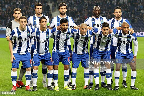 Porto initial team during the match between FC Porto v Leicester City FC UEFA Champions League match at Estadio do Drago on December 07 2016 in Porto...