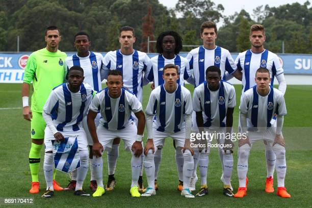 Porto initial team during the match between FC Porto v RB Leipzig for the UEFA Youth Champions League match at Centro de Treino do Olival on November...