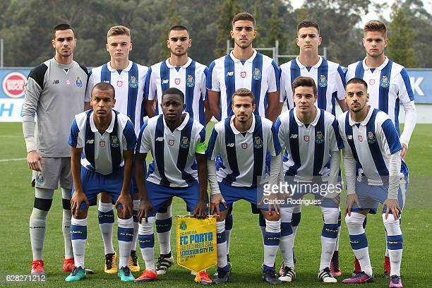 Porto initial team during the match between FFC Porto v Leicester City FC UEFA Youth Champions League match at Complexo de Treino do Olival on...