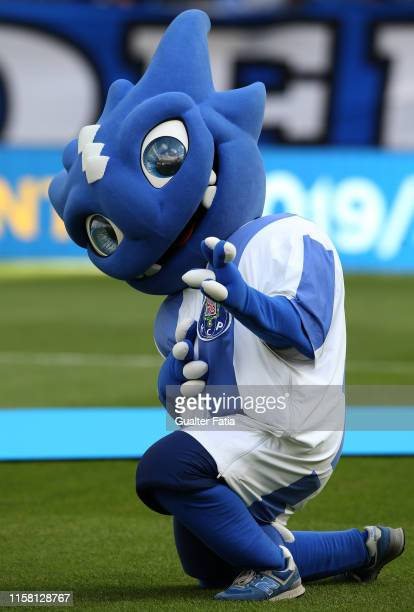 Porto Mascot Draco in action before the start of the PreSeason Friendly match between FC Porto and AS Monaco at Estadio do Dragao on July 27 2019 in...