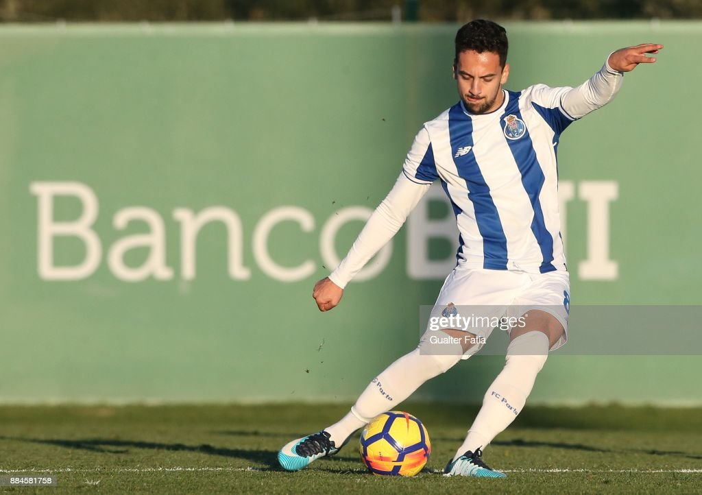 FC Porto midfielder Bruno Costa from Portugal in action during the Segunda Liga match between Sporting CP B and FC Porto B at CGD Stadium Aurelio Pereira on December 2, 2017 in Alcochete, Portugal.