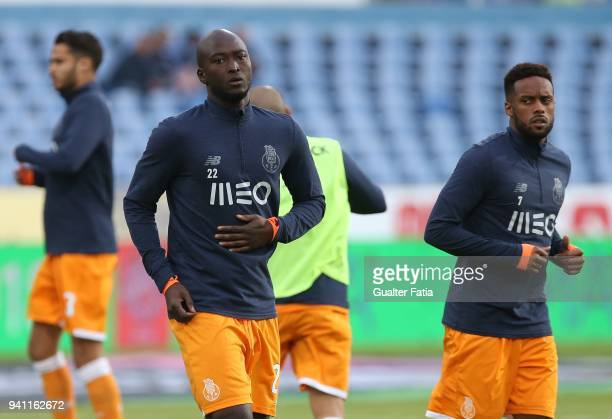 Porto midfielder Danilo Pereira from Portugal in action during warm up before the start of the Primeira Liga match between CF Os Belenenses and FC...