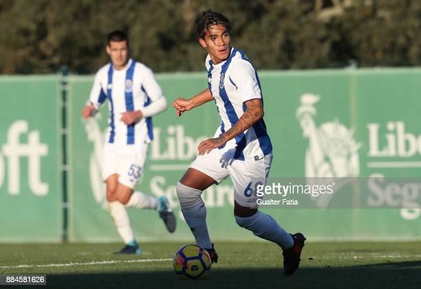 Porto midfielder Fede Varela from Argentina in action during the Segunda Liga match between Sporting CP B and FC Porto B at CGD Stadium Aurelio...