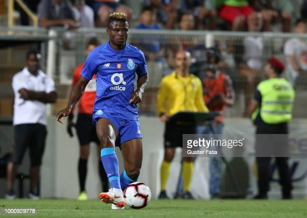 Porto midfielder Mikel Agu from Nigeria in action during the PreSeason Friendly match between Portimonense SC and FC Porto at Estadio Municipal de...