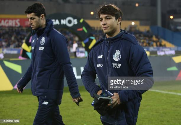 Porto midfielder Oliver Torres from Spain and FC Porto defender Ivan Marcano from Spain before the start of Liga match between GD Estoril Praia and...