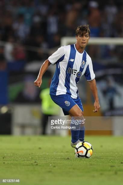 Porto midfielder Oliver Torres from Spain during the match between Vitoria Guimaraes v FC Porto match for the Guimaraes City Trophy at Estadio da Dom...