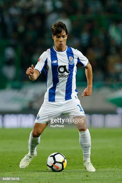 FC Porto Midfielder Oliver Torres from Spain during the Sporting CP v FC Porto Portuguese Cup semi finals 2 leg at Estadio Jose Alvalade on April 18...