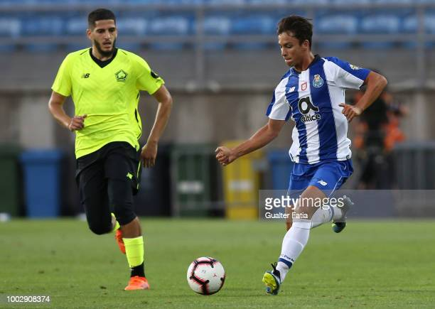 Porto midfielder Oliver Torres from Spain in action during the Algarve Cup match between FC Porto and LOSC Lille at Estadio Algarve on July 20 2018...