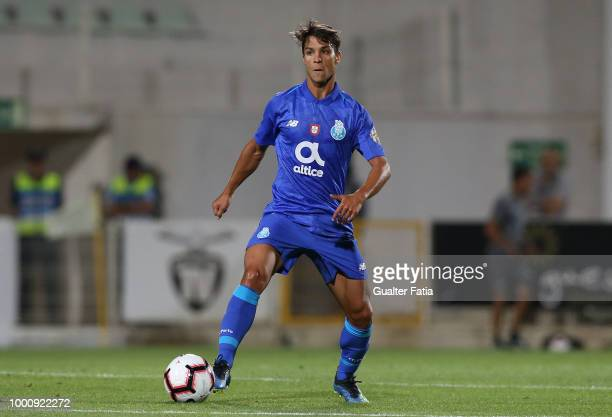 Porto midfielder Oliver Torres from Spain in action during the PreSeason Friendly match between Portimonense SC and FC Porto at Estadio Municipal de...