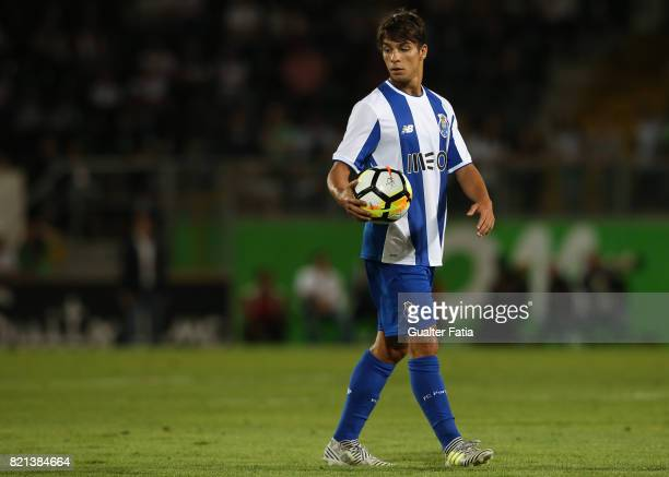 Porto midfielder Oliver Torres from Spain in action during the PreSeason Friendly match between Vitoria de Guimaraes and FC Porto at Estadio D Afonso...