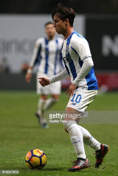 Porto midfielder Oliver Torres from Spain in action during the Taca da Liga Semi Final match between Sporting CP and FC Porto at Estadio Municipal de...