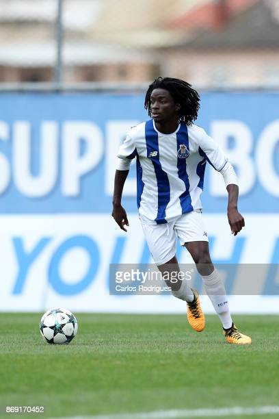 Porto midfielder Romario Baro from Portugal during the match between FC Porto v RB Leipzig for the UEFA Youth Champions League match at Centro de...