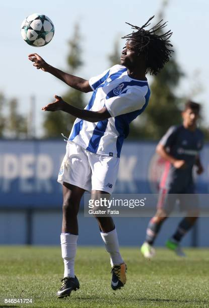 Porto midfielder Romario Baro in action during the UEFA Youth League match between FC Porto and Besiktas JK at Centro de Estagios do Olival on...