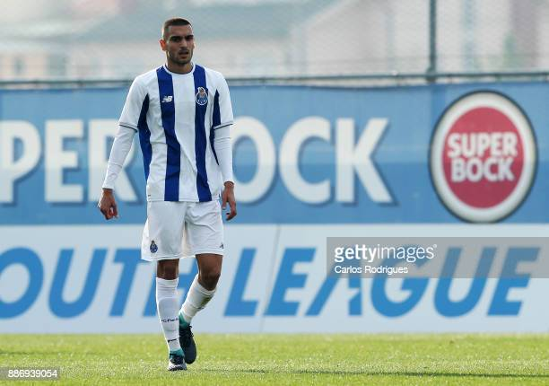 Porto midfielder Rui Pires from Portugal celebrates scoring Porto goal during the match between FC Porto v AS Monaco for the UEFA Youth Champions...
