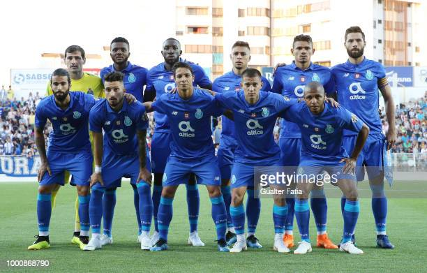 Porto players pose for a team photo before the start of the PreSeason Friendly match between Portimonense SC and FC Porto at Estadio Municipal de...