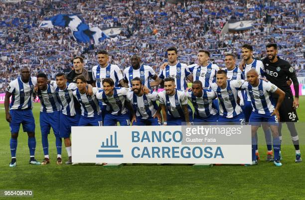 Porto players pose for a team photo before the start of the Primeira Liga match between FC Porto and CD Feirense at Estadio do Dragao on May 6 2018...