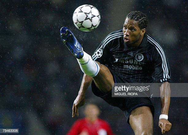 A file photo taken 21 February 2007 shows Chelsea's Ivorian striker Didier Drogba trying to control the ball during their UEFA Champions League first...