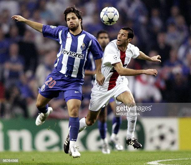 FC Porto's player brazilian Diego Ribas vies with Rangers FC's French Brahim Hemdani during their UEFA Champions League 2nd leg group H football...