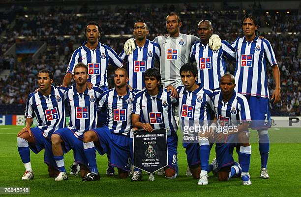 Porto pose for a team picture prior to the UEFA Champions League, Group A match match between Porto and Liverpool at the Dragao stadium on...