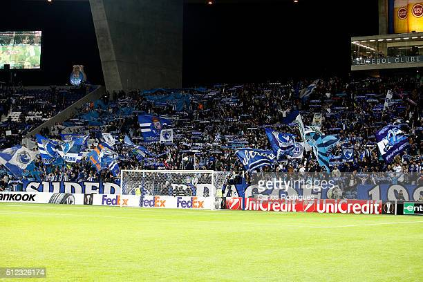 Porto supporters during the Champions League match between FC Porto and Borussia Dortmund for UEFA Europa League Round of 32 Second Leg at Estadio do...