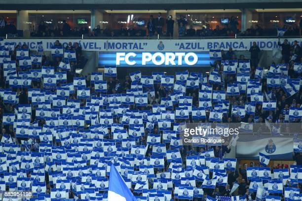 Porto supporters during the FC Porto v SL Benfica Primeira Liga match at Estadio do Dragao on Dezember 01 2017 in Porto Portugal