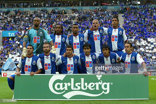 FC Porto Team during a Portuguese League match between FC Porto and Desportivo das Aves in Porto Portugal on May 20 2007
