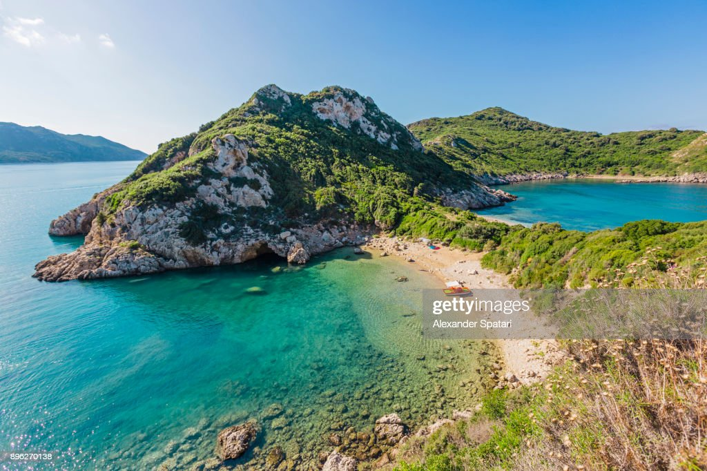 Porto Timobi beach, Corfu, Greece : Stock Photo