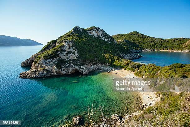 Porto Timoni beach, Afionas, Corfu island, Greece