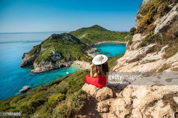 porto timoni, corfu greece - corfu stock pictures, royalty-free photos & images