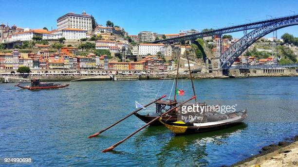 Porto with the bridge Dom Luis I in the background at daytime