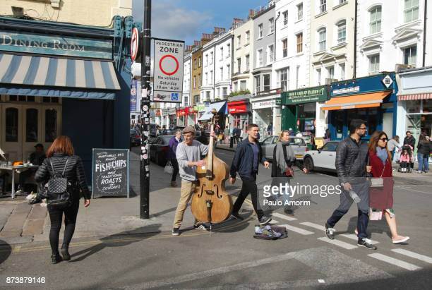 Portobello Market Music People in London