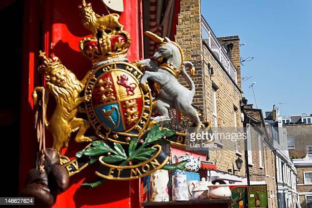 portobello market - insignia stock pictures, royalty-free photos & images