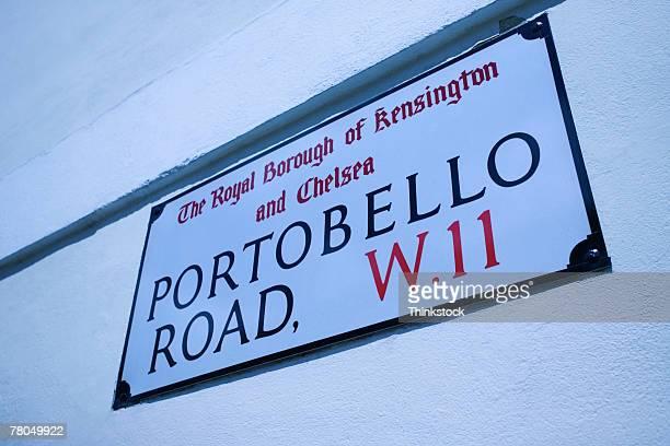 Portobello Road sign, London, England