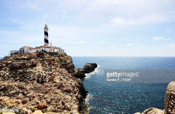 Portocolom lighthouse over cliff