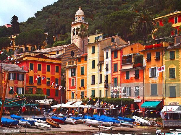 Portofino architecture and boats