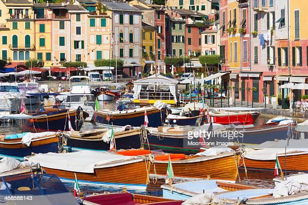portofino in the riviera di levante, italy - portofino stock pictures, royalty-free photos & images
