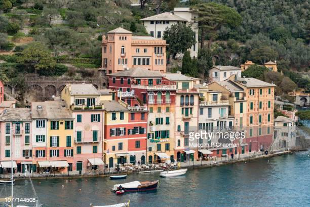 portofino, italian riviera, liguria, italy - liguria fotografías e imágenes de stock