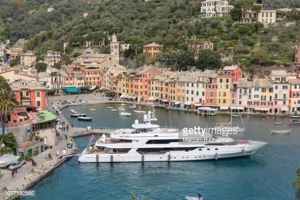 portofino, italian riviera, liguria, italy - liguria stock photos and pictures