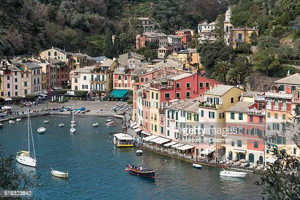 portofino, liguria, italian riviera, genoa, italy - liguria stock photos and pictures