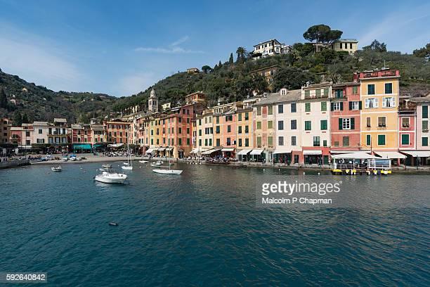 portofino, liguria, italian riviera, genoa, italy - portofino stock pictures, royalty-free photos & images
