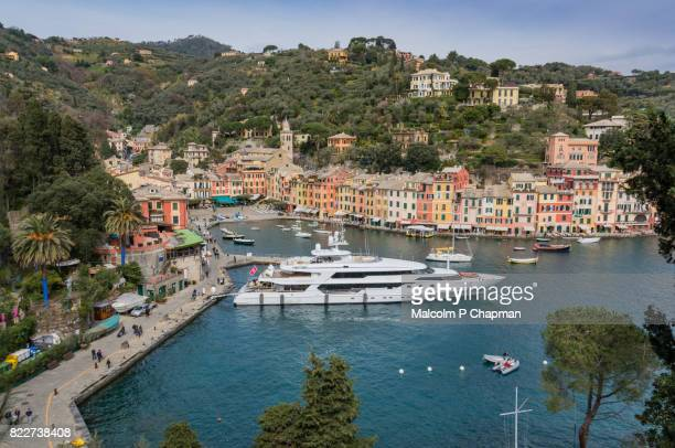 portofino, liguria, italian riviera, genoa, italy - genoa stock pictures, royalty-free photos & images