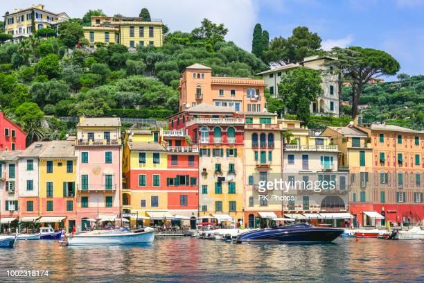 portofino, liguria, italy - portofino stock pictures, royalty-free photos & images