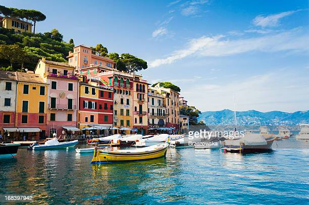 portofino, liguria, italy - genoa stock pictures, royalty-free photos & images
