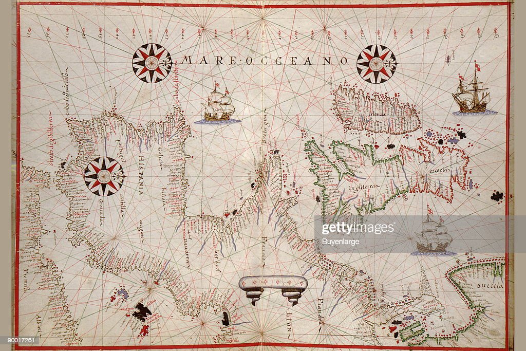 Map Of France England And Spain.Portolan Map Of Spain England Ireland France News Photo Getty
