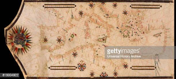Portolan Map of the Mediterranean and connecting seas Portolan or portulan charts are navigational maps based on compass directions and estimated...