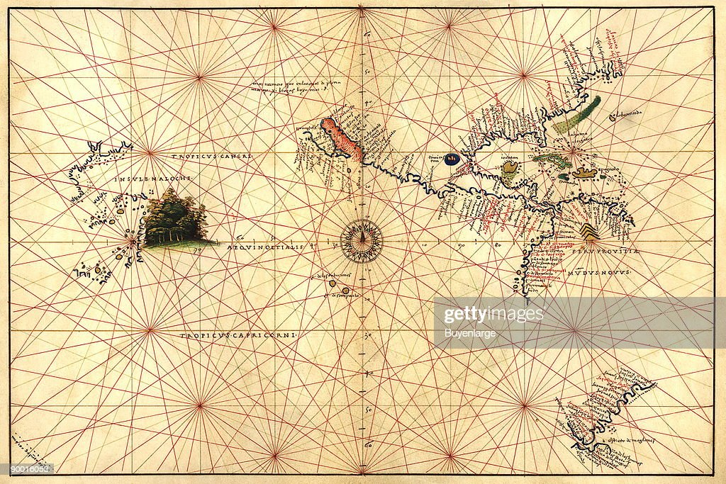 Portolan Map of the Western Hemisphere showing what will ...