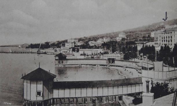 Portoro In Slovenia Harbor View With Palace Hotel 1924 - Palace-hotel-in-slovenia