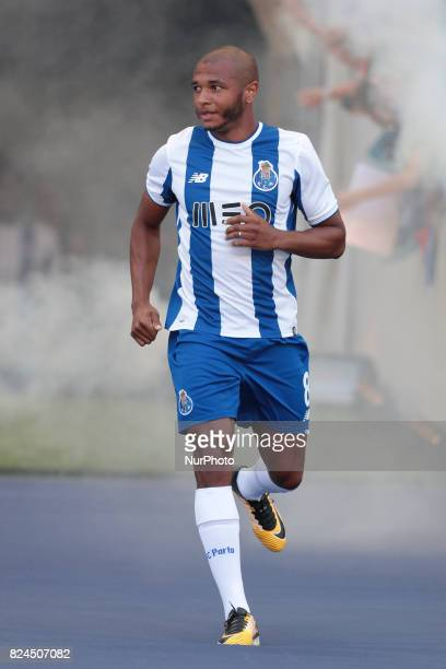 Porto's Algerian forward Yacine Brahimi during the preseason friendly between FC Porto and Deportivo da Corunha at Dragao Stadium on July 30 2017 in...